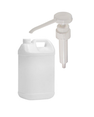 5 litre Bilk plastic bottle with pump